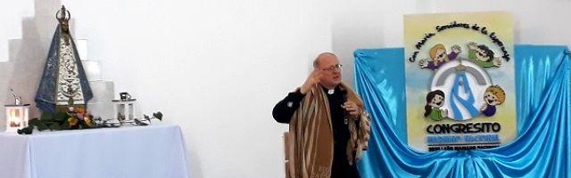 Obispo de Catamarca, Luis Urbanc, con la Virgen del Valle, encontrada hace 400 años