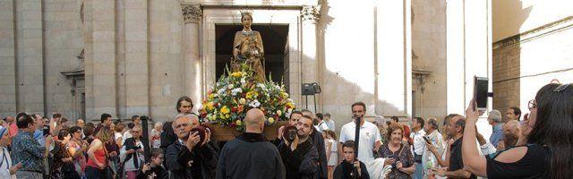 Procesión con la Virgen de la Merced en Barcelona