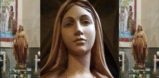Esta talla de madera es la Reina de Radio María, llega a España tras recorrer Italia