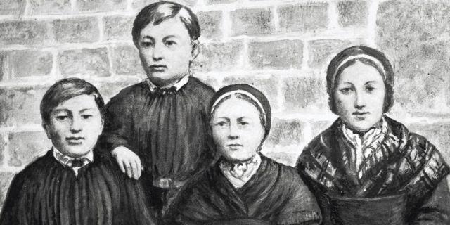 Los 4 niños que la Iglesia reconoce como videntes de la Virgen en Pontmain