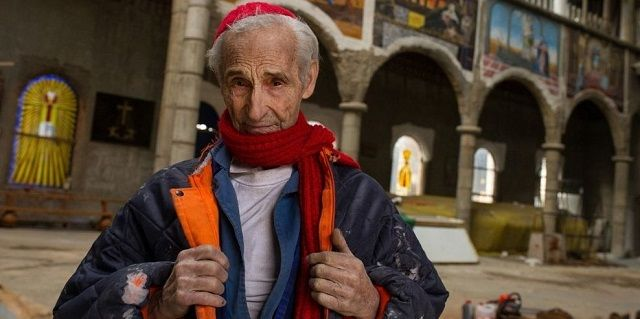 Justo Gallego ha construido la catedral de Mejorada él solo durante 6 décadas