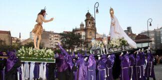 Santo Encuentro entre Jesús rsucitado y María en Pontevedra - foto de Rafa Fariña