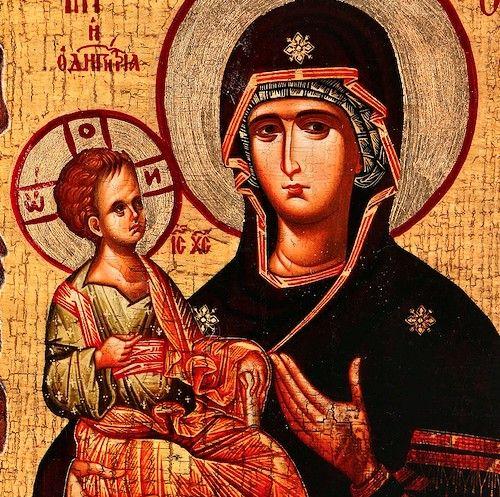 Icono ruso de la Santísima Virgen.