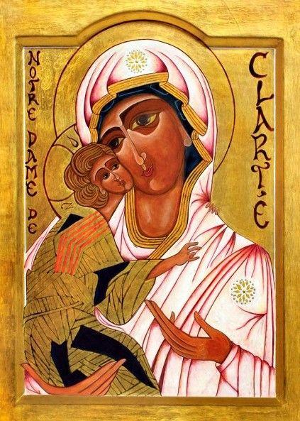 Icono peregrino de Nuestra Señora de la Claridad.